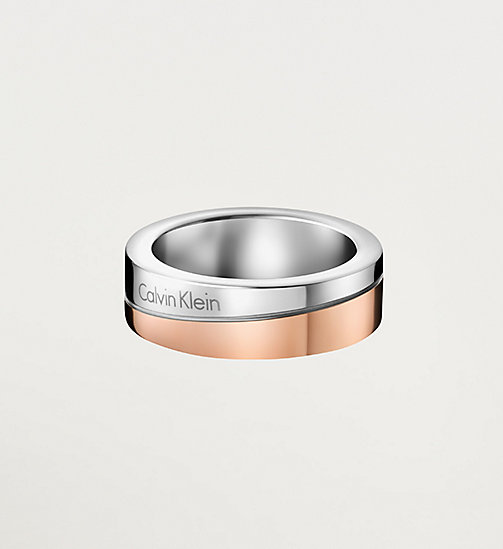 CALVINKLEIN Ring - Calvin Klein Hook - SST / PINK PVD - CALVIN KLEIN WATCHES & JEWELLERY - main image
