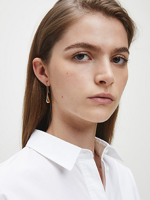 CALVINKLEIN Earrings - Calvin Klein Ellipse - GOLD - CALVIN KLEIN JEWELLERY - detail image 1