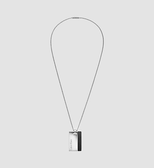 CALVINKLEIN Necklace - Calvin Klein High - SST / BLACK RUBBER - CALVIN KLEIN  - main image