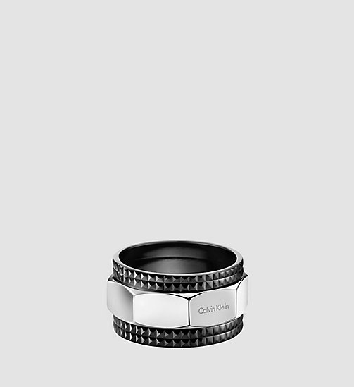 CALVINKLEIN Ring - Calvin Klein High - SST / BLACK RUBBER - CALVIN KLEIN GIFTS FOR HIM - main image