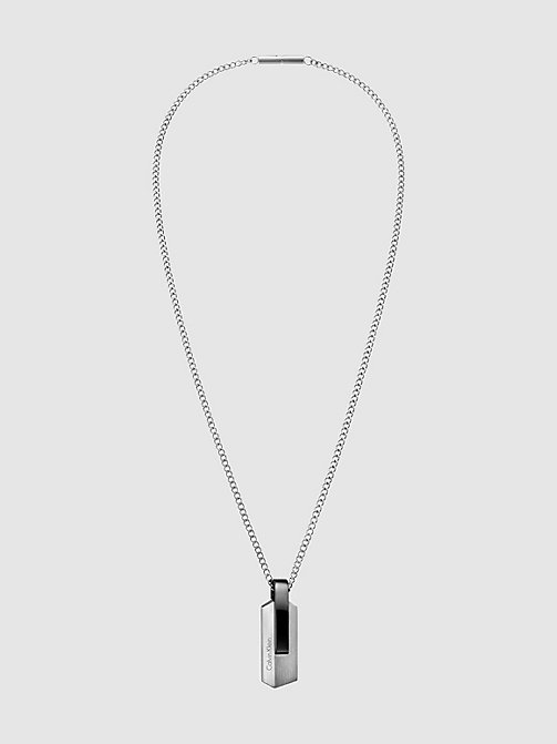 CALVINKLEIN Necklace - Calvin Klein Bump - SST / BLACK PVD - CALVIN KLEIN NECKLACES - main image
