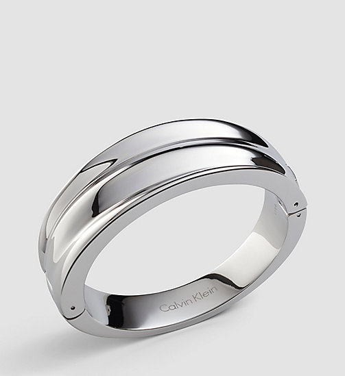 CALVINKLEIN Closed Bangle - Calvin Klein Glorious - SILVER - CALVIN KLEIN WATCHES & JEWELLERY - main image