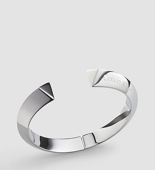 CALVINKLEIN Open Bangle - Calvin Klein Shape - SILVER - CALVIN KLEIN WATCHES & JEWELLERY - main image