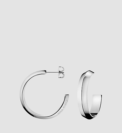CALVINKLEIN Earrings - Calvin Klein Shape - SILVER - CALVIN KLEIN JEWELLERY - main image