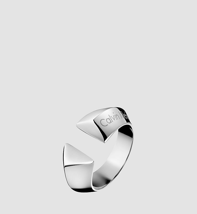 CALVINKLEIN Ring - Calvin Klein Shape - SILVER - CALVIN KLEIN SHOES & ACCESSORIES - main image