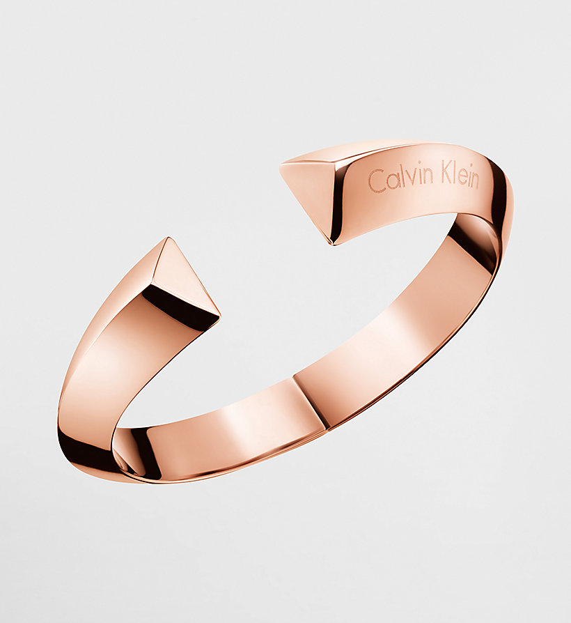 CALVINKLEIN Open Bangle - Calvin Klein Shape - PINK - CALVIN KLEIN SHOES & ACCESSORIES - main image