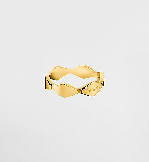 CALVINKLEIN Ring - Calvin Klein Snake - YELLOW PVD - CALVIN KLEIN WATCHES & JEWELLERY - main image