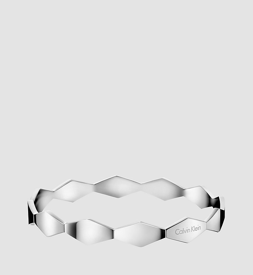 CALVINKLEIN Round Bangle - Calvin Klein Snake - STAINLESS STEEL - CALVIN KLEIN SHOES & ACCESSORIES - main image