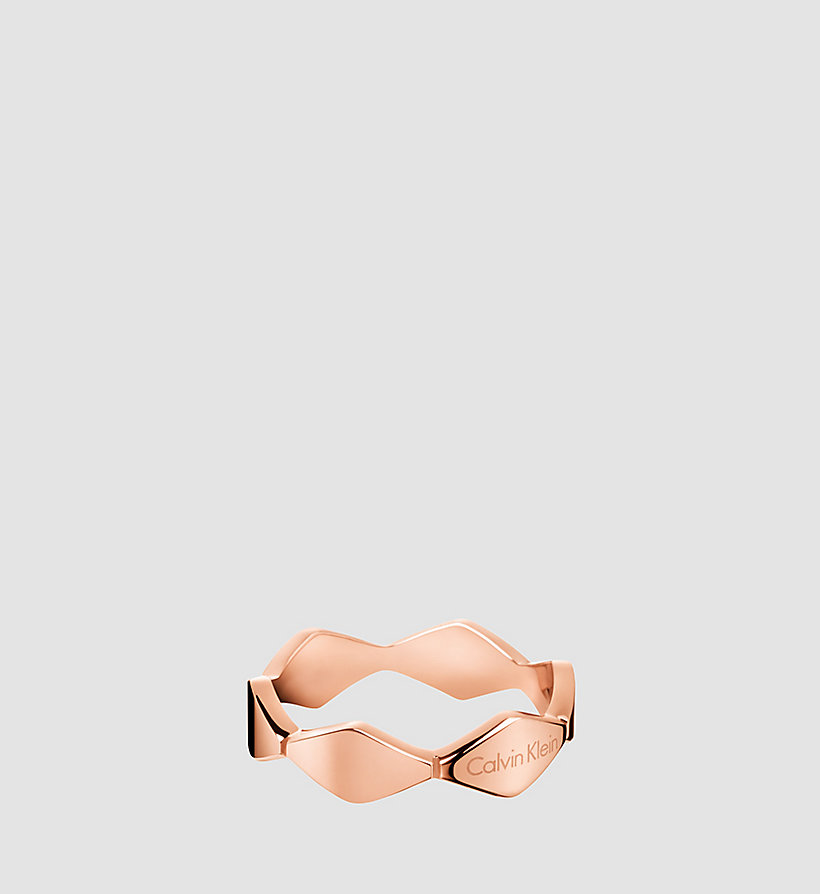 CALVINKLEIN Ring - Calvin Klein Snake - PINK PVD - CALVIN KLEIN SHOES & ACCESSORIES - main image