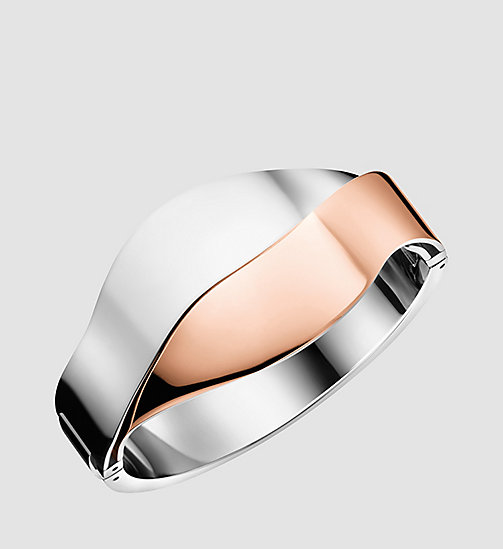 CALVINKLEIN Closed Bangle - Calvin Klein Senses - SST / PINK - CALVIN KLEIN JEWELLERY - main image