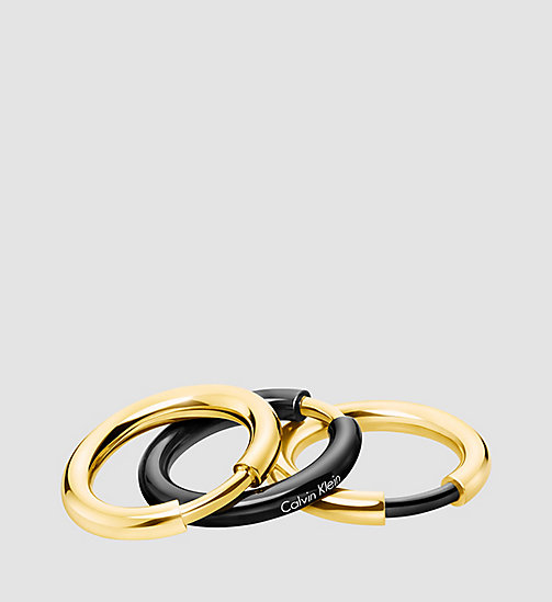 Ring - Calvin Klein Disclose - BLACK/GOLD - CALVIN KLEIN  - main image