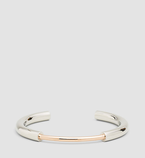 CALVINKLEIN Open Bangle - Calvin Klein Disclose - STAINLESS STEEL SILVER - CALVIN KLEIN WATCHES & JEWELLERY - main image