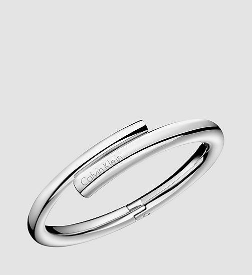 CALVINKLEIN Closed Bangle - Calvin Klein Scent - STAINLESS STEEL - CALVIN KLEIN BRACELETS - main image