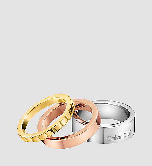 CALVINKLEIN Ring - Calvin Klein Wonder - SST / PINK / YELLOW - CALVIN KLEIN WATCHES & JEWELLERY - main image