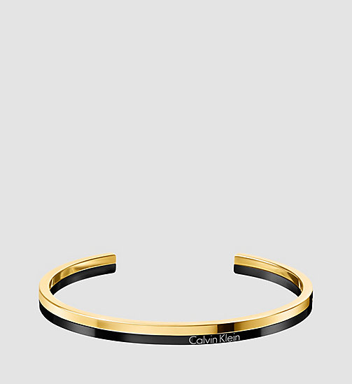CALVINKLEIN Open Bangle - Calvin Klein Gorgeous - BLACK / YELLOW - CALVIN KLEIN JEWELLERY - main image