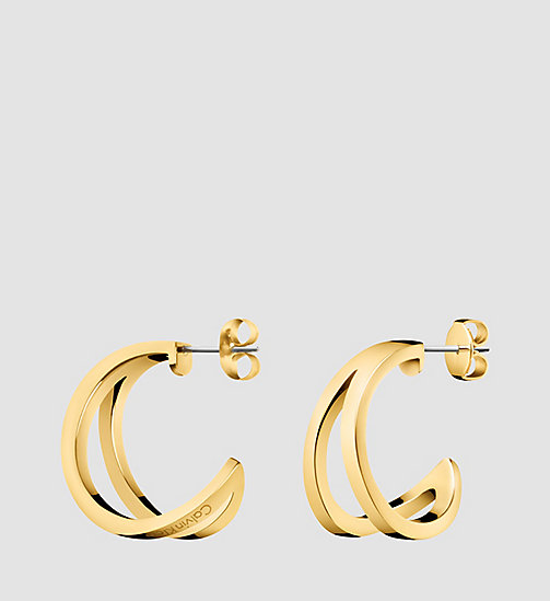 CALVINKLEIN Earrings - Calvin Klein Outline - SST / YELLOW GOLD - CALVIN KLEIN WATCHES & JEWELLERY - main image