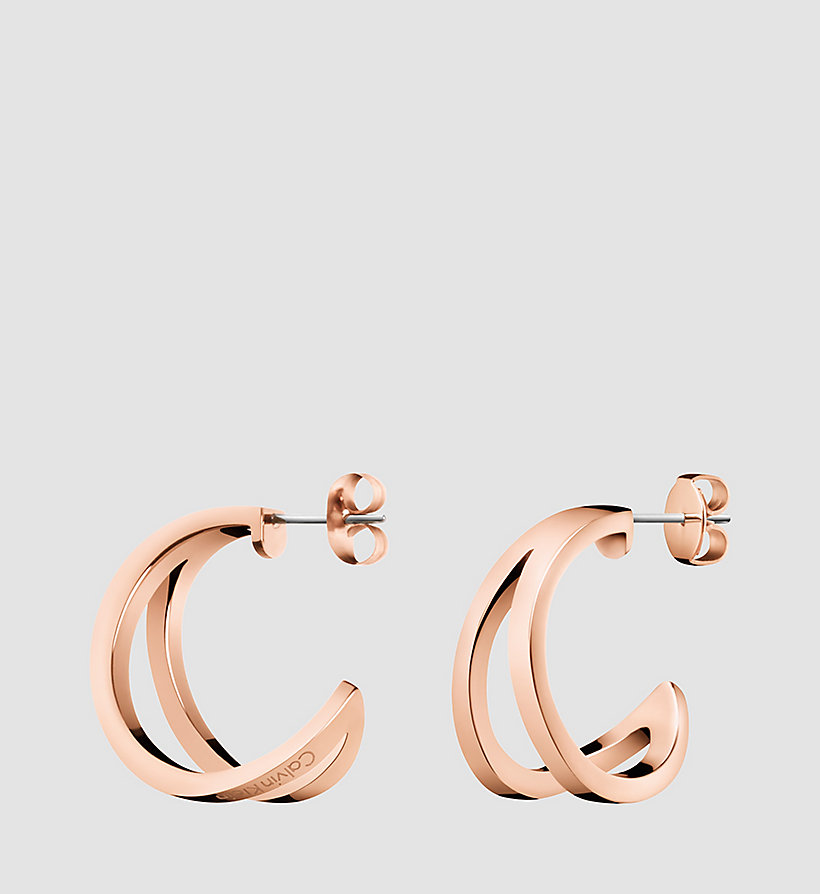 CALVINKLEIN Earrings - Calvin Klein Outline - SST / PINK GOLD - CALVIN KLEIN SHOES & ACCESSORIES - main image