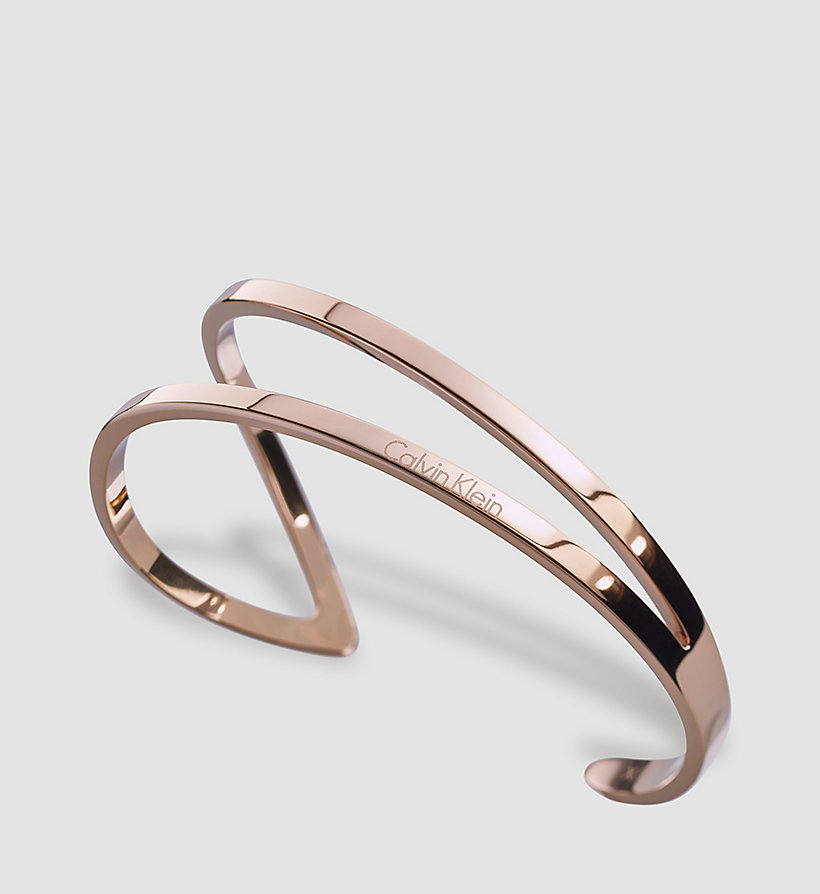 CALVINKLEIN Open Bangle - Calvin Klein Outline - SST / PINK GOLD - CALVIN KLEIN SHOES & ACCESSORIES - main image