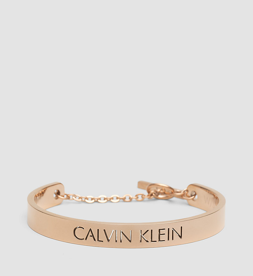 CALVINKLEIN Open Bangle - Calvin Klein Message - PVD PINK - CALVIN KLEIN SHOES & ACCESSORIES - main image
