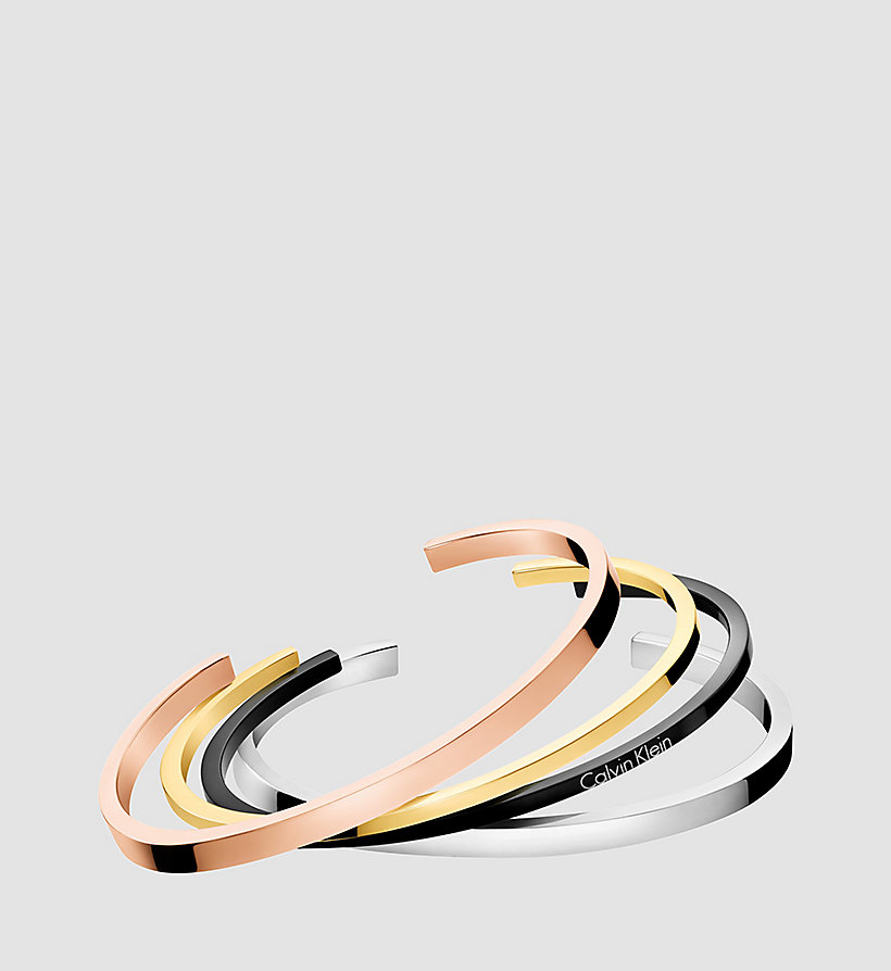 CALVINKLEIN Open Bangle - Calvin Klein Gorgeous - SST/ YELLOW / PINK /BLACK - CALVIN KLEIN SHOES & ACCESSORIES - main image