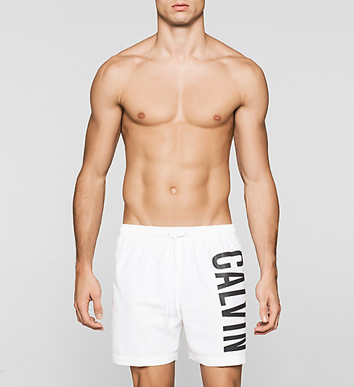 Swim Shorts - Intense Power - WHITE - CALVIN KLEIN SWIMWEAR - main image