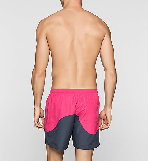 Swim Shorts - Color Block - FUCHSIA PURPLE/ PERISCOPE - CALVIN KLEIN SWIMWEAR - detail image 1