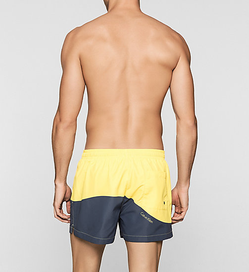 CALVINKLEIN Swim Shorts - Color Block - BUTTERCUP/PERISCOPE - CALVIN KLEIN SWIMWEAR - detail image 1