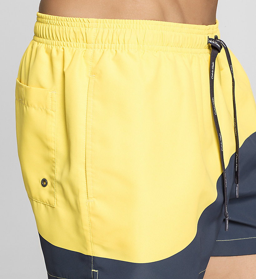 CALVINKLEIN Swim Shorts - Color Block - BUTTER CUP/ PERISCOPE - CALVIN KLEIN SWIMWEAR - detail image 2
