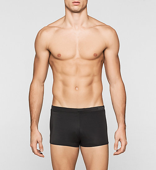 Swim Trunks - Core Solids - BLACK - CALVIN KLEIN SWIMWEAR - main image
