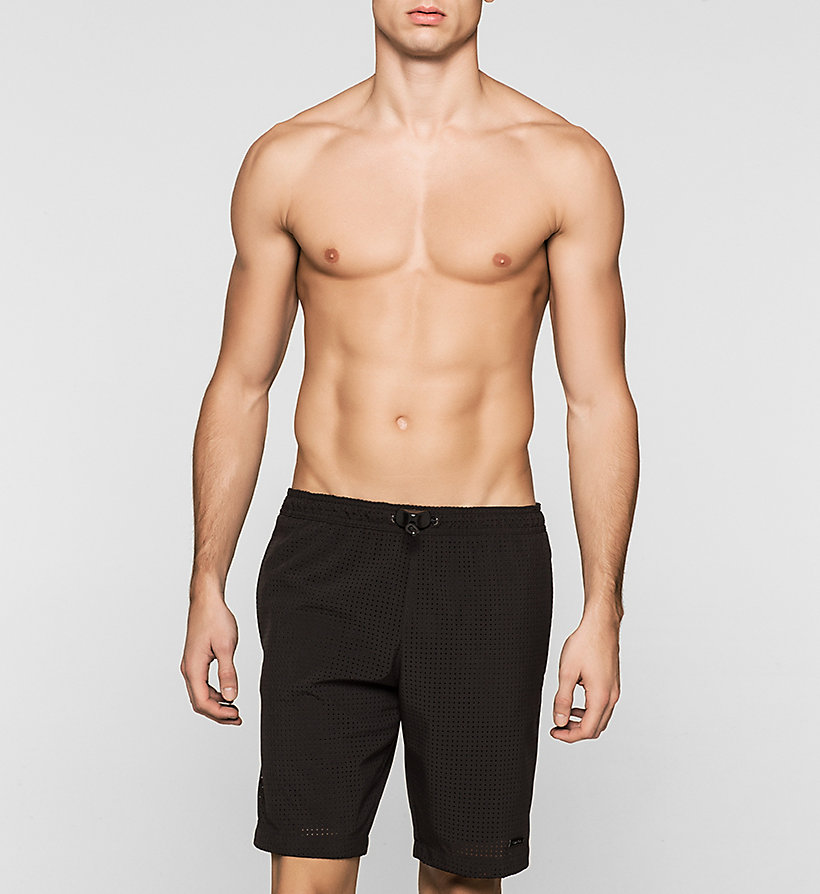 CALVINKLEIN Swim Shorts - Cutting Edge Calvin - BLACK - CALVIN KLEIN SWIMWEAR - main image