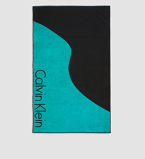 CALVINKLEIN Beach Towel - Core Lifestyle - CERAMIC/ BLACK - CALVIN KLEIN SHOES & ACCESSORIES - main image