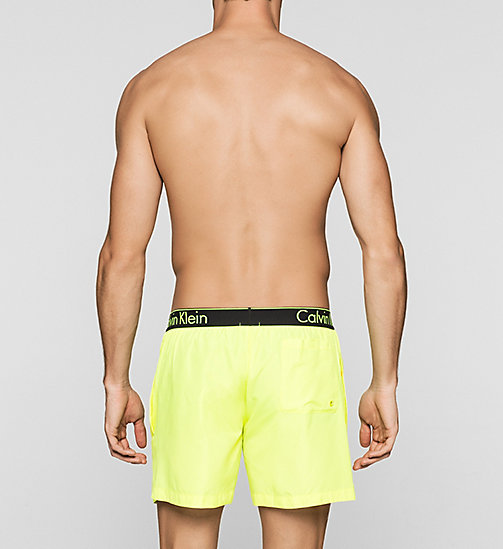 CALVINKLEIN Swim Shorts - Neon Placed Logo - SAFETY YELLOW 13-0630 - CALVIN KLEIN SWIMWEAR - detail image 1