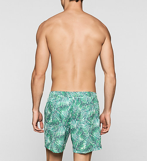 CALVINKLEIN Swim Shorts - ID Print - JUNGLE PRINT GREEN - CALVIN KLEIN SWIMWEAR - detail image 1