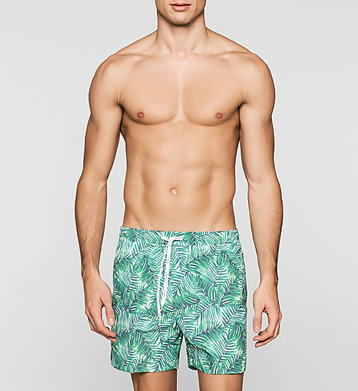 Swim Shorts - ID Print - JUNGLE PRINT GREEN - CALVIN KLEIN SWIMWEAR - main image