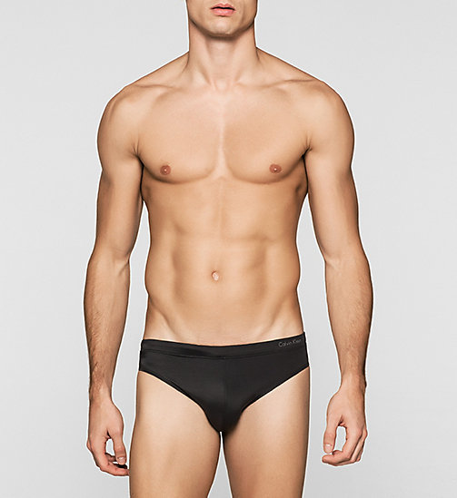 Swim Briefs - Core Solids - BLACK - CALVIN KLEIN SWIMWEAR - main image