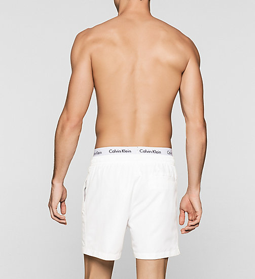 Swim Shorts - Core Solids - WHITE - CALVIN KLEIN SWIMWEAR - detail image 1
