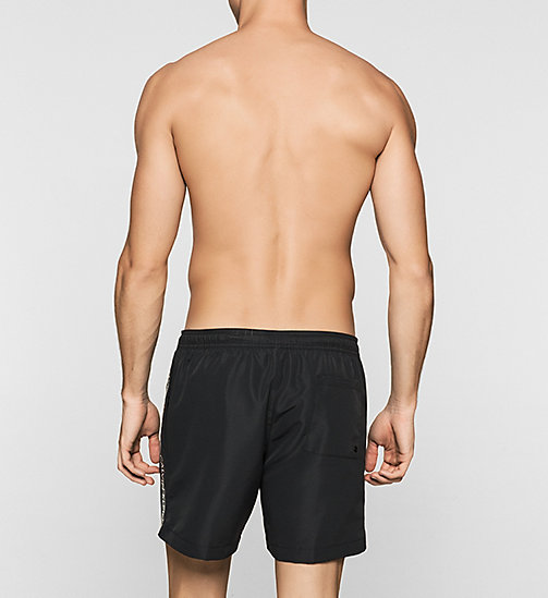 CALVINKLEIN Swim Shorts - Logo Tape - BLACK - CALVIN KLEIN SWIM SHORTS - detail image 1