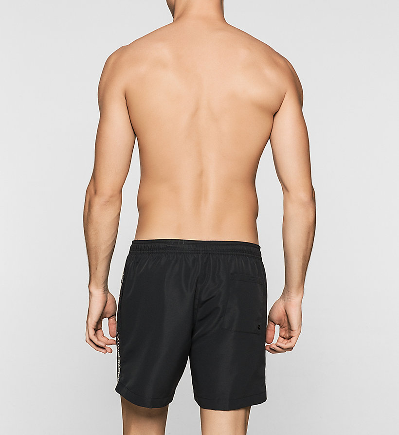 CALVINKLEIN Swim Shorts - Logo Tape - BLACK - CALVIN KLEIN SWIMWEAR - detail image 1