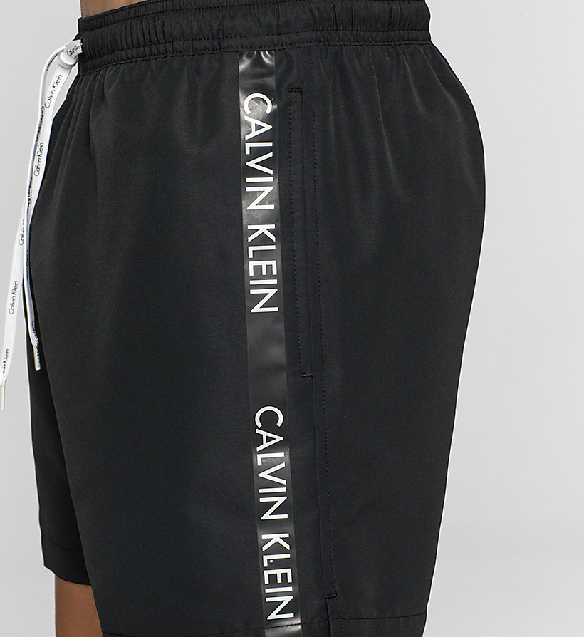 CALVINKLEIN Swim Shorts - Logo Tape - BLACK - CALVIN KLEIN SWIMWEAR - detail image 2