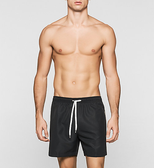 CALVINKLEIN Swim Shorts - Logo Tape - BLACK - CALVIN KLEIN SWIMWEAR - main image