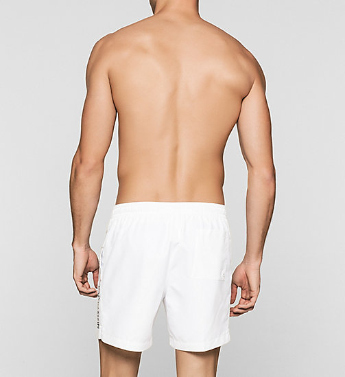 Swim Shorts - Logo Tape - WHITE - CALVIN KLEIN  - detail image 1