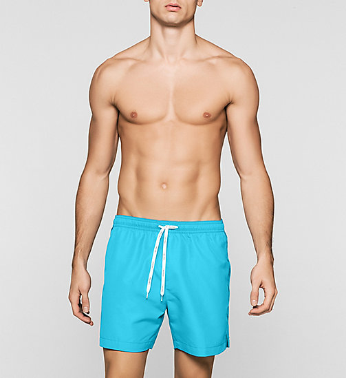 Swim Shorts - Logo Tape - BLUE ATOLL - CALVIN KLEIN  - main image