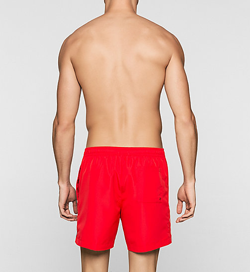 CALVINKLEIN Swim Shorts - Logo Tape - RACING RED - CALVIN KLEIN SWIMWEAR - detail image 1