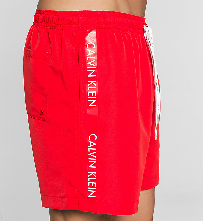 CALVINKLEIN Swim Shorts - Logo Tape - RACING RED - CALVIN KLEIN SWIMWEAR - detail image 2