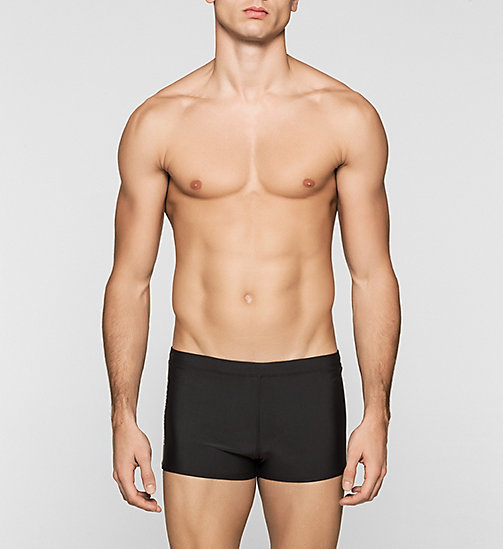 CALVINKLEIN Swim Trunks - Logo Tape - BLACK - CALVIN KLEIN SWIMWEAR - main image