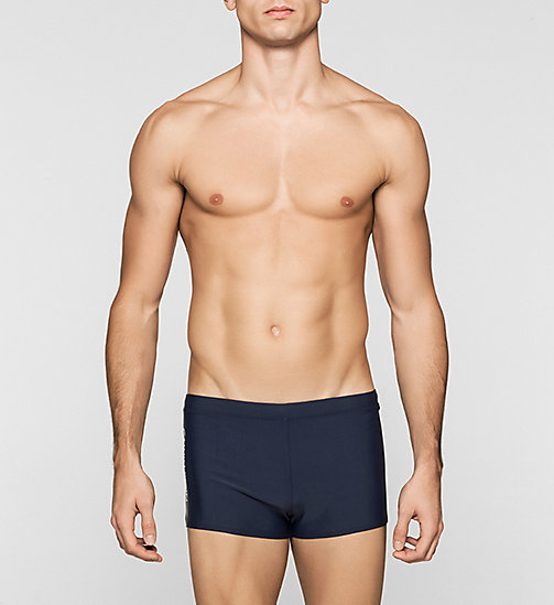 Swim Trunks - Logo Tape - BLUE SHADOW - CALVIN KLEIN SWIMWEAR - main image