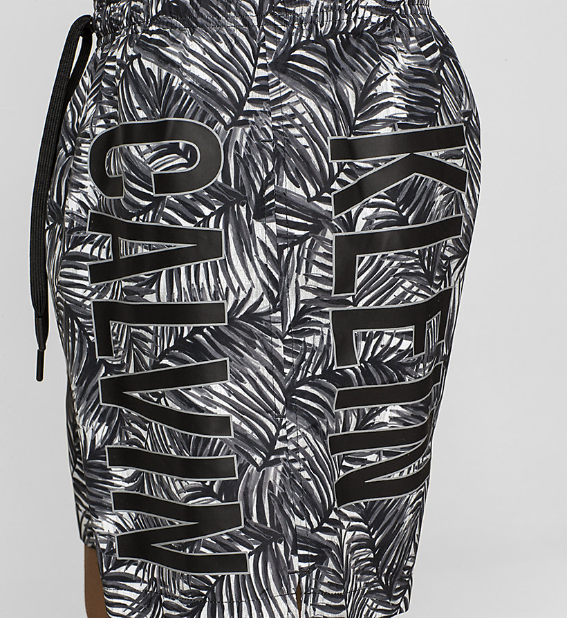 CALVINKLEIN Swim Shorts - Intense Power - JUNGLE PRINT BLACK BLACK - CALVIN KLEIN SWIMWEAR - detail image 2