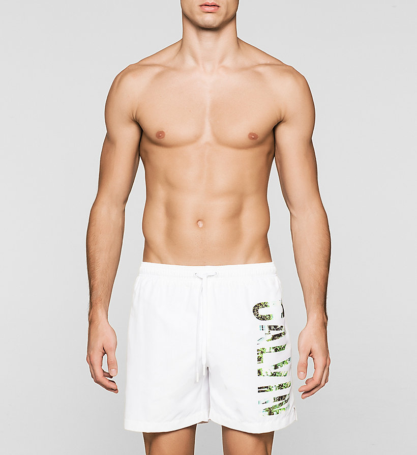 CALVINKLEIN Swim Shorts - Intense Power - WHITE - CALVIN KLEIN SWIMWEAR - main image