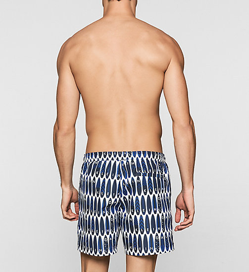 CALVINKLEIN Swim Shorts - Core Novelty - SURFS UP PRINT BLUE - CALVIN KLEIN  - detail image 1
