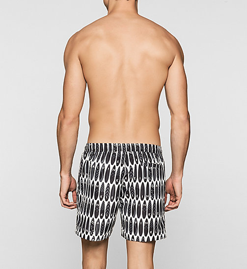 CALVINKLEIN Swim Shorts - Core Novelty - SURFS UP PRINT BLACK - CALVIN KLEIN SWIMWEAR - detail image 1